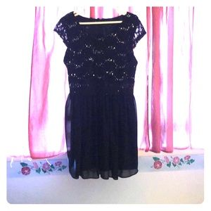 Juniors Black Formal Dress